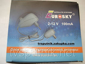 Блок питания антенный 12V 100mA c регулятором Eurosky