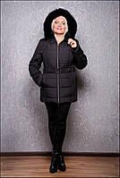 Пуховик женский большого размера К 103-15 PVC р. 46