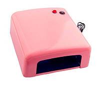 Уф лампа sk 818 36 Вт с таймером на 2 мин, розовая  f