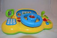 Автотренажер детский «Я тоже рулю» Joy Toy, руль с клаксоном, зеркало, звук и свет, светофор, телефон, Киев