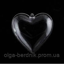 """Пластиковая прозрачная форма """"Сердце"""" 10 см, 740888 SANTI"""