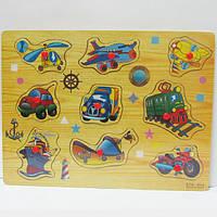 """Игра деревянная рамка-вкладыш """"Транспорт"""""""