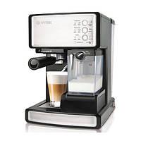 Кофеварка  эспрессо Vitek VT-1514 BK, фото 1
