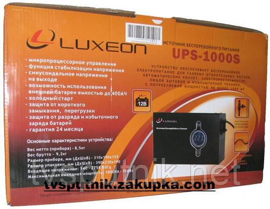 Источник бесперебойного питания Luxeon UPS-1000S, фото 2