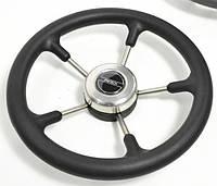 Рулевое колесо Pretech нержавейка 32 см черное.