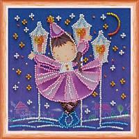 """Набор для вышивки бисером Мини """"Звездный танец"""" (15 х 15 см) Абрис Арт AM-079"""