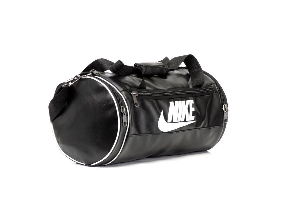 Мужская спортивная кожаная PU сумка Nike бочка черная c93fc27f690bc