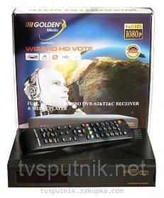 Кабельный+спутниковый HDTV тюнер Golden Media Wizard HD Vote