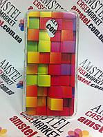Силиконовый чехол бампер для Meizu M3s с картинкой Цветные квадраты