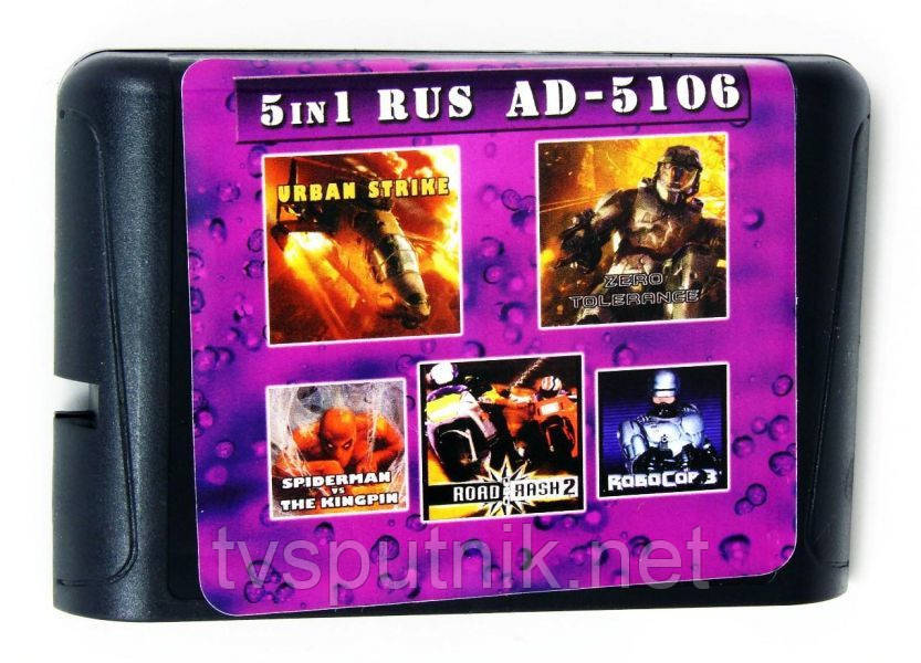 Картридж Sega 16bit Сборник игр  AD-5106