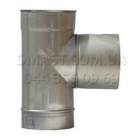 Тройник для дымохода ф150 87гр из нержавеющй стали
