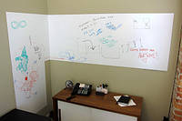 Информационный стенд для офиса (Пленка для рисования маркером) ширина 1,2 м, плотная