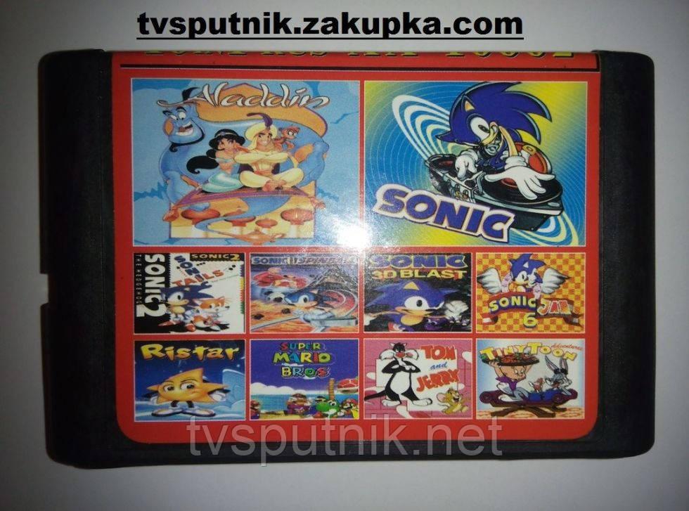 Картридж Sega 16bit Сборник игр AA-10002