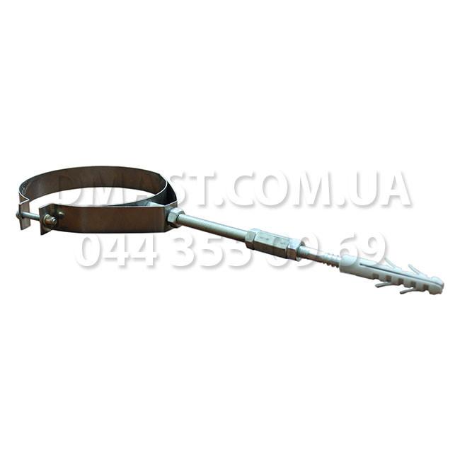 Скоба крепежная для дымохода ф180 из нержавеющй стали