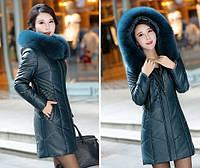 Женский стильный зимний пуховик. Модель 1014, фото 10