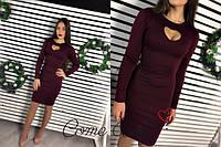 """Платье мини с вырезом на груди """"Сердце"""" 5 цветов SMV928"""