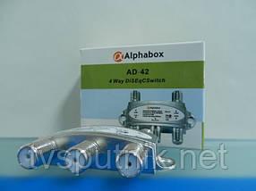 Коммутатор DiSEqC Alphabox AD-42 4х1