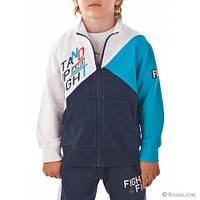 Спортивная кофта для мальчика, сине-голубой-белый 151BFFC001 BRUMS, Италия