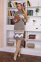 Вязаное платье Diamond р. 42-50, фото 1