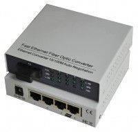 Медиаконвертор TelStream MC-118/520SC-04L (4 лан порта)