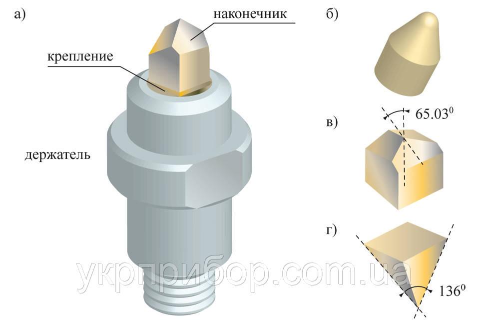 Инденторы Берковича, Кнупа и другие типы для микротвердомеров