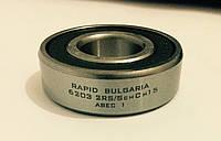 Шариковый радиальный подшипник однорядный 6203 2 RS ABEC 1