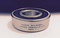 Шариковый радиальный подшипник однорядный 6204 2 RS ABEC 1