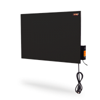 Бытовая ИК керамическая нагревательная панель DIMOL Mini Plus c иновационной системой умного контроля 370 вт чёрная