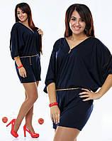 Платье-туника больших размеров чёрная