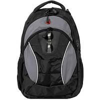 Рюкзак WENGER цв. черный/серый, полиэстер 900D, 32х15х46 см