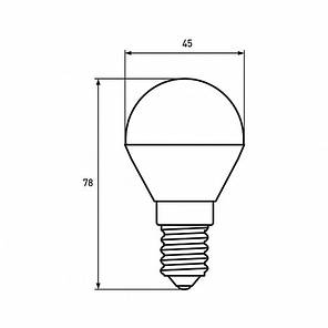 "EUROLAMP LED Лампа ЕКО серія ""D"" G45 5W E14 3000K, фото 2"
