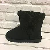 Женские зимние сапоги Ugg , на пуговице (Black)