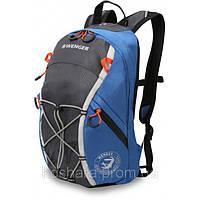 Рюкзак WENGER цв. серый,синий полиэстер, 39х24х15 см (14л.)