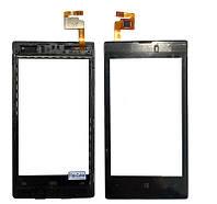 Сенсор NOKIA LUMIA 525 . 520 Lumia чёрный 116x60mm чёрный с рамкой