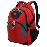 Рюкзак с отделение для ноутбука WENGER Красный,Серый,Черный
