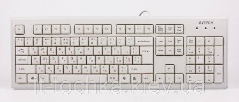 Проводная клавиатура a4 tech km-720 usb white