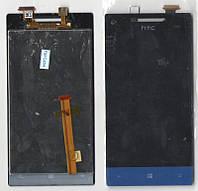 Дисплей + сенсор HTC A620e Windows Phone 8S голубой (оригинальный)