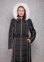 Женский пуховик большого размера К 103 евро черный