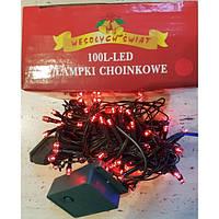 Гирлянда на 100 LED красная
