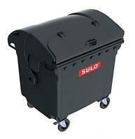 Мусорный контейнер SULO (1100 л) крышка серый