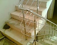 Перила на лестницу из нержавейки