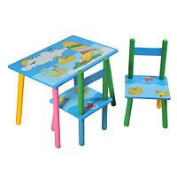 Столик Baby Tilly Кораблики с двумя стульчиками (W02-3843)
