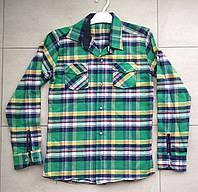 Рубашка на мальчика клетка 11-12 лет в розницу