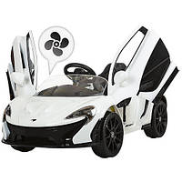 Детский Электромобиль McLaren 672 BR белый, кондиционер, амортизатор, двери, плавный старт, пульт