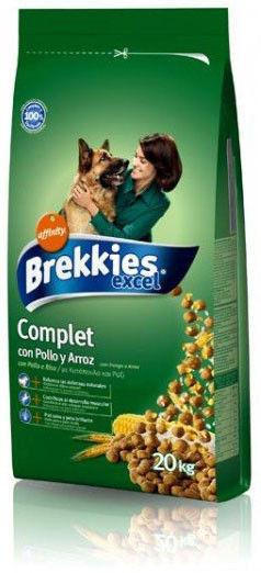 Brekkies Excel Dog Complete Adult кори для собак средних и крупных пород на курице 20кг