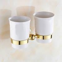 Держатель керамический для стаканов в ванную комнату