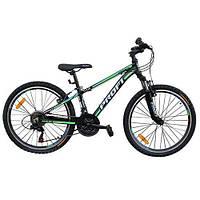 """Спортивный двухколесный велосипед PROFI 24"""" (G24A315-L-1B) с алюминиевой рамой"""
