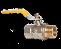 "Кран шаровый для газа 1/2"" НВ желтая ручка RS-K (Италия)"