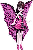 "Кукла Монстер Хай Дракулаура с крыльями платье трансформер ""летучая мышь"""