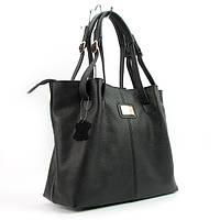 Кожаная сумка женская черная ручная работа Viladi 036-011